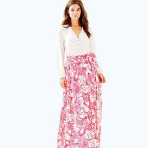 WANTED Lilly Pulitzer Maxi Skirt Goop Skirt Size 4